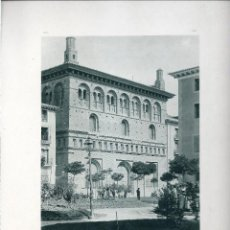 Fotografía antigua: ZARAGOZA. LA LONJA. AÑO 1896. FOTOTIPIA DE HAUSER Y MENET. Nº287 . Lote 86198556