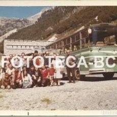 Fotografía antigua: FOTO ORIGINAL TUNEL VIELLA VIELHA AUTOCAR ENASA PEGASO MATRICULA BARCELONA AÑO 1971 - 11,5X8 CM. Lote 86225392