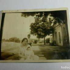 Fotografía antigua: ANTIGUA FOTOGRAFÍA. ESTACIÓN DE TREN. BENIMAMET. VALENCIA. FOTO.. Lote 86682680