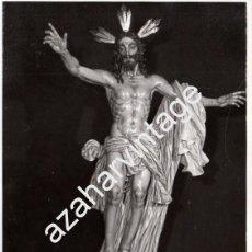 Fotografía antigua: SEMANA SANTA SEVILLA, ANTIGUA FOTOGRAFIA CRISTO RESUCITADO, 128X178MM. Lote 86707608