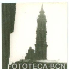 Fotografía antigua: FOTO ORIGINAL ZARAGOZA CATEDRAL AÑO 1962 - 10X7 CM. Lote 86723012