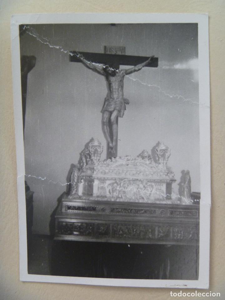 SEMANA SANTA DE SEVILLA (?) : PASO DE CRISTO CRUCIFICADO (Fotografía Antigua - Fotomecánica)