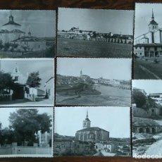 Fotografía antigua: COLMENAR DE OREJA LOTE DE 12 FOTOGRAFIAS ORIGINALES Y 2 POSTALES AÑOS 50 MADRID. Lote 87088796