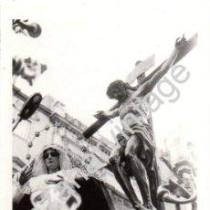 Fotografía antigua: SEMANA SANTA SEVILLA, 1972, PASO DE CRISTO HERMANDAD DE LOS JAVIERES, 76X110MM. Lote 87122768