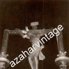Fotografía antigua: SEMANA SANTA SEVILLA, 1969, STMO.CRISTO DE LA VERA CRUZ, 76X110MM. Lote 87173084