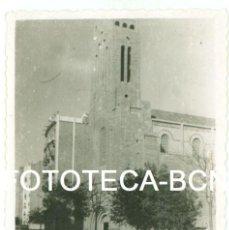 Fotografía antigua: FOTO ORIGINAL BARCELONA IGLESIA SANTA TERESA DEL NIÑO JESUS VIA AUGUSTA AÑOS 40/50 - 8X5,5 CM. Lote 87222364