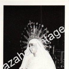 Fotografía antigua: SEMANA SANTA SEVILLA, 1974, BESAMANOS HERMANDAD DEL MUSEO,76X110MM. Lote 87315020