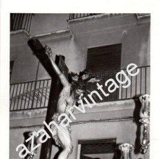 Fotografía antigua: SEMANA SANTA SEVILLA, 1973, PASO CRISTO DE LA SALUD, SAN BERNARDO, 76X110MM. Lote 87316236