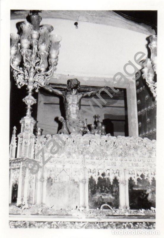 SEMANA SANTA SEVILLA,1972, SALIDA PASO CRISTO HERMANDAD DE SANTA CRUZ, 76X110MM (Fotografía Antigua - Fotomecánica)