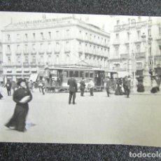 Fotografía antigua: ANTIGUA FOTOGRAFÍA MADRID. TRANVÍA EN LA PUERTA DEL SOL. 10,6 X 7,5 CM . Lote 87491604