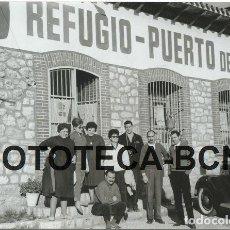 Fotografía antigua: FOTO ORIGINAL REFUGIO PUERTO DE AGER PROVINICIA LLEIDA PUBLICIDAD COCA COLA AÑOS 50/60 - 10,5X7,5 CM. Lote 88796856