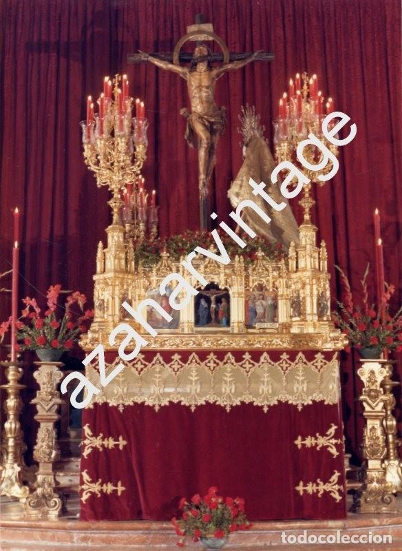 SEMANA SANTA SEVILLA, ANTIGUA FOTOGRAFIA PASO CRISTO DE LAS MISERICORDIAS,SANTA CRUZ. 128X178MM (Fotografía Antigua - Fotomecánica)