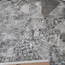 Fotografía antigua: SES SALINES (MALLORCA). GRAN FOTO AÉREA (60 X 50 CM). HACIA 1970.. Lote 89699612