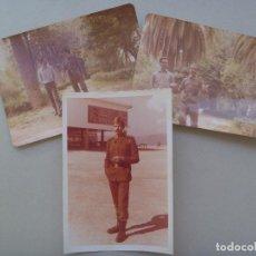 Fotografía antigua: LOTE DE 3 FOTOS DE LA MILIA : CABO CON ROPA DE PASEO, AÑOS 70. Lote 89835684