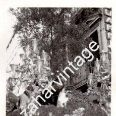 Fotografía antigua: SEMANA SANTA SEVILLA, ANTIGUA FOTOGRAFIA PASO DE MONTESION,76X110MM. Lote 90759885
