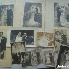 Fotografía antigua: LOTE DE 100 FOTOS DE BODAS , ALGUNAS SON GIGANTES Y CASI TODAS TAMAÑOS GRANDES ( 12 X 17 CM , ETC ). Lote 92126625