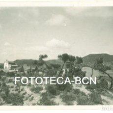 Fotografía antigua: FOTO ORIGINAL CASTELLFOLLIT DEL BOIX COMARCA BAGES AÑO 1945 - 8X5,5 CM. Lote 92874915