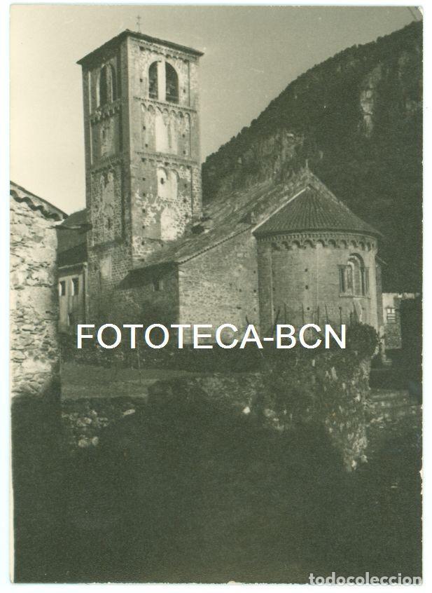 FOTO ORIGINAL IGLESIA SANT CRISTOFOL DE BEGET ALTA GARROTXA AÑO 1956 - 10,5X7,5 CM (Fotografía Antigua - Fotomecánica)