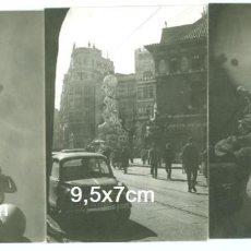 Fotografía antigua: LOTE 3 FOTOS FALLAS DE VALENCIA FALLA AÑOS 50/60. Lote 93985500