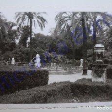 Fotografía antigua: FOTOGRAFÍA ANTIGUA ORIGINAL. FUENTE DE LOS LEONES. PARQUE DE MARÍA LUISA. SEVILLA. AÑO 1956. Lote 94738751