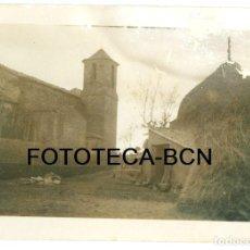 Fotografía antigua: FOTO ORIGINAL EL BRULL IGLESIA SANT MARTI AÑO 1951. Lote 95524567