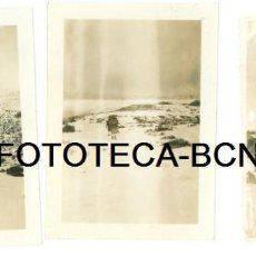 Fotografía antigua: LOTE 3 FOTOS ORIGINALES EXCURSIONISTAS SUBIENDO AL MATAGALLS AÑO 1951. Lote 95530163