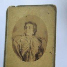Fotografía antigua: MUJER FOTO CARTON DURO. WOMAN PHOTO CARTON HARD. FEMME ISOREL PHOTO.. Lote 95716027