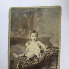Fotografía antigua: NIÑA FOTO CARTON DURO. GIRL PHOTO ISOREL. GIRL PHOTO CARTON HARD.. Lote 95716059