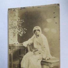 Fotografía antigua: NIÑA PRIMERA COMUNION. GIRL FIRST COMMUNION. PREMIÈRE COMMUNION. Lote 95716075