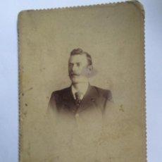Fotografía antigua: HOMBRE, FOTO CARTON DURO. MAN, PHOTO HARD CARTON.. Lote 95716099