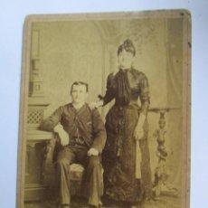 Fotografía antigua: PAREJA MATRIMONIO - MARRIAGE COUPLE CIRCA 1910. Lote 95716243