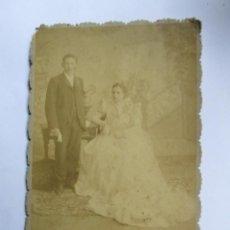 Fotografía antigua: PAREJA MATRIMONIO - MARRIAGE COUPLE CIRCA 1910. Lote 95716271