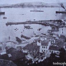 Fotografía antigua: VIGO BOUZAS AÑO 1938 .11.5X17.5.GALAICO FOTOGRABADO. Lote 95985635