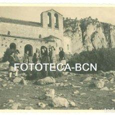 Fotografía antigua: FOTO ORIGINAL SANTUARIO SANTA MARIA DEL MONTGRONY AÑO 1946 - 13X8 CM. Lote 96381627