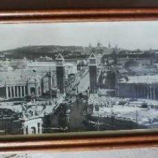 Fotografía antigua: GRAN FOTOIMPRESIÓN ORIGINAL ENMARCADA, BARCELONA 3 DE ENERO DE 1929. NEVADA. EXPOSICIÓN UNIVERSAL. Lote 96581731