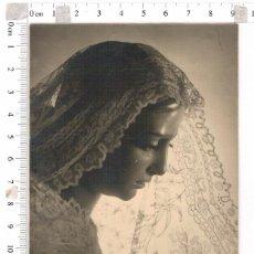 Fotografía antigua: FOTOGRAFIA DE LA VIRGEN DE LAS ANGUSTIAS, FOTO HARETON SEMANA SANTA DE SEVILLA. Lote 97168459