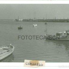 Fotografía antigua: FOTO ORIGINAL CAMBRILS PUERTO BARCAS PESCADORES TARRAGONA AÑOS 60 - 9,5X6,5 CM. Lote 97269607