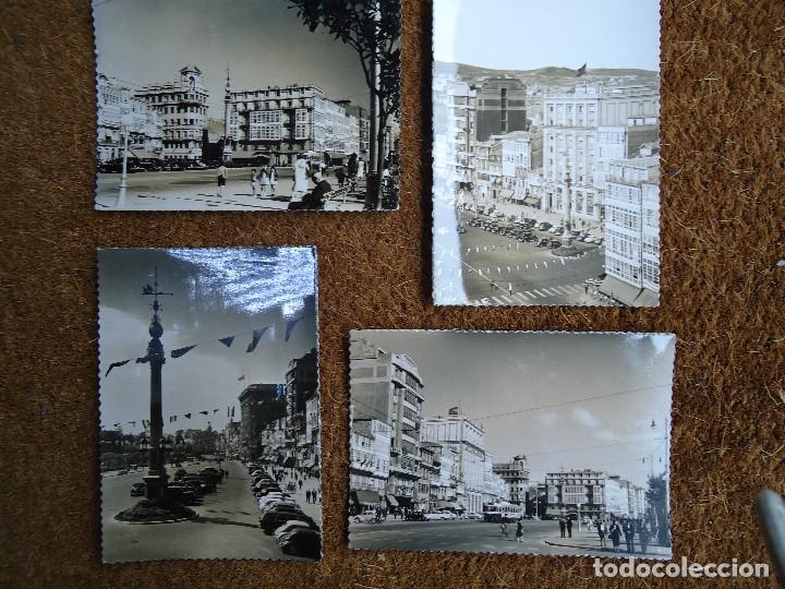 4 POSTALES DE LA CORUÑA EDITADAS POR ARTIGOT 1960 MUY RARAS (Fotografía Antigua - Fotomecánica)