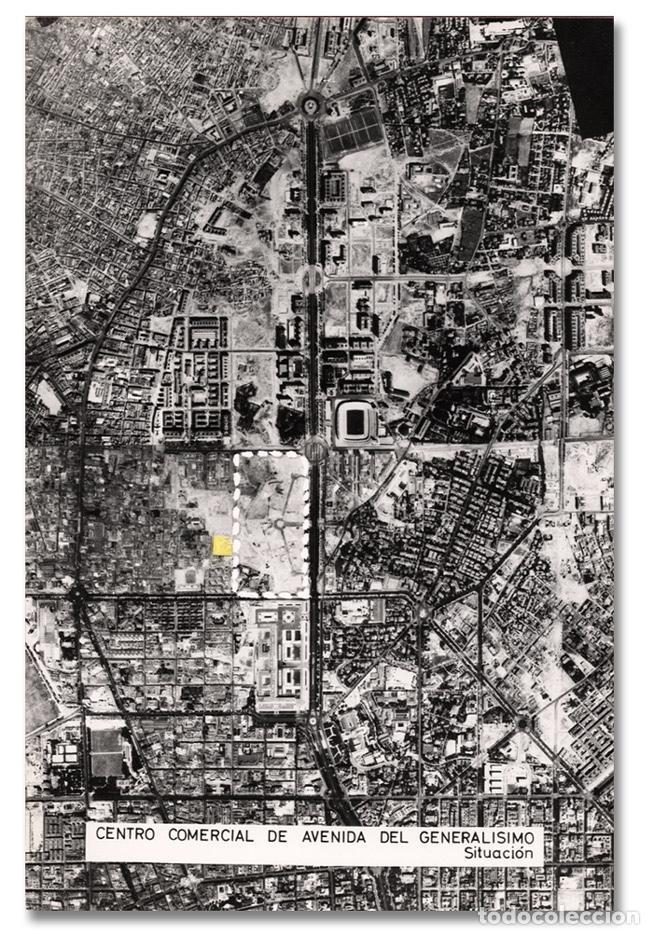 Fotografía antigua: Foto aérea Madrid, solar AZCA Centro Comercial Avenida del Generalísimo - Ca 1960 - (copia vintage) - Foto 2 - 98093583