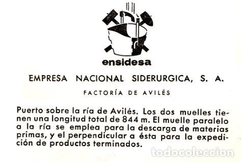 Fotografía antigua: Puerto de la ría de Avilés, Asturias, 1960s. Ensidesa, Empresa Nacional Siderúrgica. Copia vintage - Foto 2 - 98093659
