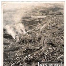 Fotografía antigua: AVILÉS, FOTO DE LA FACTORÍA DE ENSIDESA, EMPRESA NACIONAL SIDERÚRGICA, AÑOS 1960 - COPIA VINTAGE. Lote 98093707