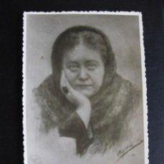 Fotografía antigua: IMAGEN H P BLAVATSKY FIRMADA POR P. CARULLA, PRESIDENTE DE LA RAMA ARMONÍA SOCIEDAD TEOSÓFICA ESPAÑA. Lote 98382195