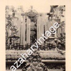 Fotografía antigua: SEMANA SANTA SEVILLA, AÑOS 70, LA SOLEDAD DE SAN LORENZO, 70X100MM. Lote 98386583
