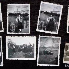 Fotografía antigua: BURGOS. 8 FOTOS. GRUPO DE SEÑORITAS EN TRAJE REGIONAL BURGALÉS. AÑO: 1949 - 1950.. Lote 98398471
