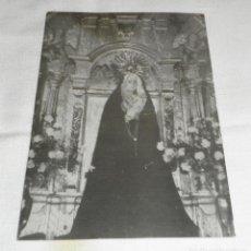 Fotografía antigua: FOTOGRAFIA ANTIGUA DE LA VIRGEN DE LOS DOLORES. Lote 98511643