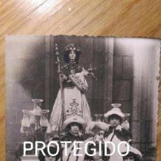 Fotografía antigua: PONTEVEDRA. RARÍSIMA FOTOGRAFÍA DE LA CARROZA DE LA VIRGEN PEREGRINA. PRIMER TERCIO S.XX. Lote 98512947