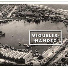 Fotografía antigua: FOTOGRAFÍA AÉREA DEL PUERTO DE VALENCIA, AÑOS 1960. Lote 98513047
