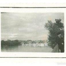 Fotografía antigua: FOTO ORIGINAL ZARAGOZA PUENTE DE PIEDRA - JUNIO DE 1935. Lote 98547799