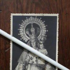 Fotografía antigua: ANTIGUA FOTOGRAFIA DE NUESTRA SEÑORA DE LAS VIÑAS PATRONA DE TOMELLOSO CIUDAD REAL . Lote 98722939