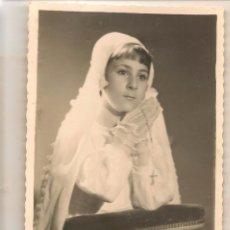 Fotografía antigua: FOTO: NIÑA DE PRIMERA COMUNIÓN. JUNIO 1950. PHOTO-STUDIO B. ASENCIO. (C/A23). Lote 99121667